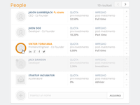 People panel Ui