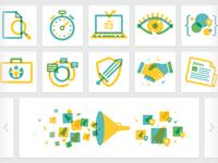 Overprint icons