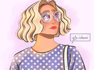 Girl illustration/Curls all the way!