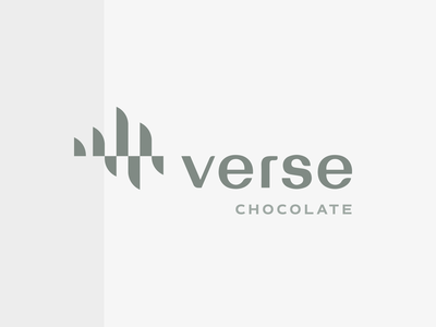 Verse Logo   Concept soundwaves wave waveform chocolate verse soundwave waves identity mark logomark logo branding