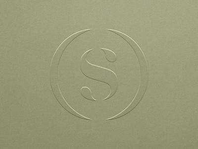 Logo   Concept logomark droplet drop oil serif circle s monogram mark identity logo