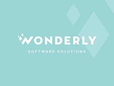 Wonderly Logo   Concept glittery shimmer software monogram wonder glimmer sparkle w branding and identity branding logo wordmark