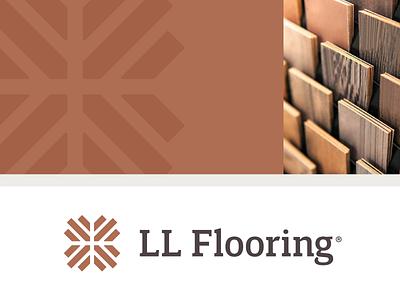 LL Flooring  |  Logo wood lumber home warm floors identity branding burst serif logomark logo flooring