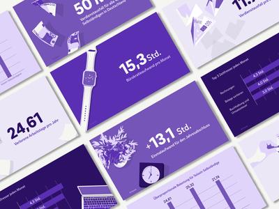 Infographic slides about bureaucracy and freelancers design kontist slides vector infographics illustration