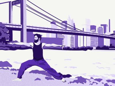 "Illustration for Kontist blog ""Stability in your freelance"" kontist vector illustration"
