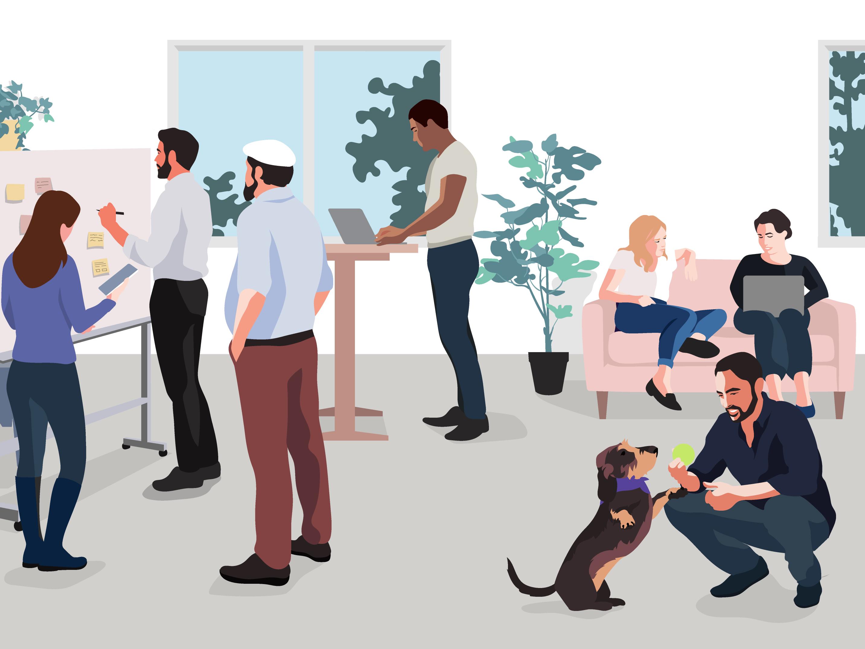Career page illustrations header