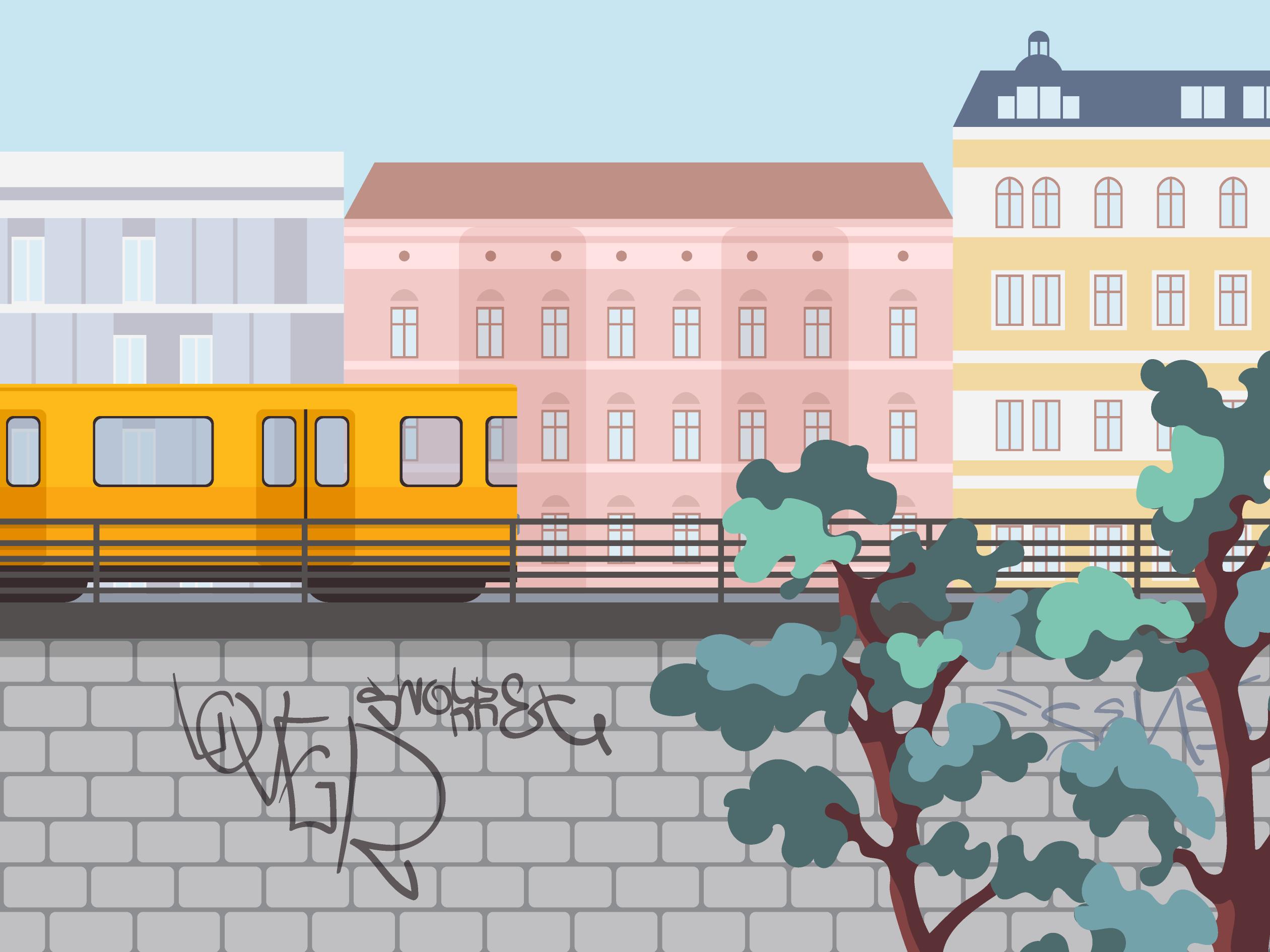 Career page illustrations train 1