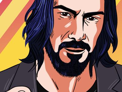Keanu is breathtaking people graphic illustration illustrator poster keanu reeves comic vector