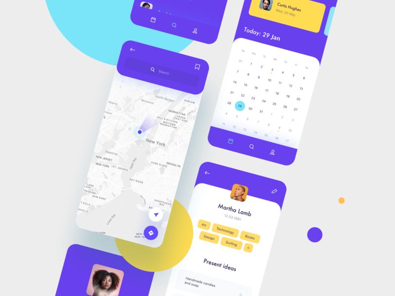Daily UI 029 Map social network product design notifications tags profile calendar location map contact form inputs mobile ui details ui elements phone design challenge ux ui dailyui029 dailyui