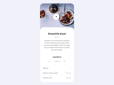 Daily UI 040 Recipe mobile app app cuisine notes journal book ingredients food recipe product design mobile ui details ui elements phone design challenge ux ui dailyui040 dailyui