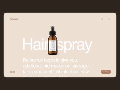 Daily UI 045 Info Card clean simple webdesign website infocard info about cosmetics product page ecommerce web ui details ui elements phone design challenge ux ui dailyui045 dailyui