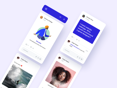 Daily UI 047 Activity Feed content post network social activity news feed product product design mobile ui details ui elements phone design challenge ux ui dailyui047 dailyui