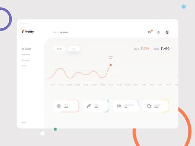 Daily UI 018 Analytics Chart minimal application app webapp savings goal expenses income budget finance dashboard graphs graphic chart analytics dailyui018 dailyui design ui ux