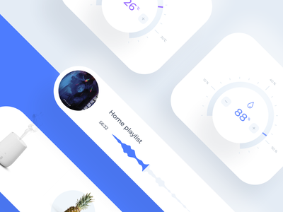 Daily UI 021 Home Monitoring Dashboard monitoring dashboard web app ui elements scent temperature ac smart home player challenge design concept interface mobile app cards ux ui dailyui021 dailyui