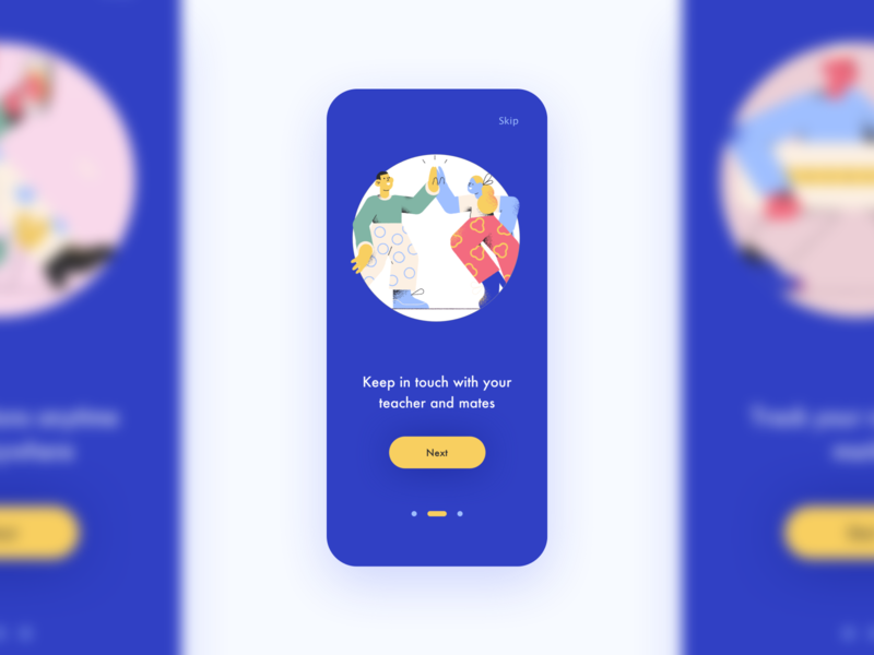 Daily UI 023 Onboarding sketch studying learning education lms pagination steps illustration mobile app mobile application app start on boarding onboarding ux ui dailyui023 dailyui