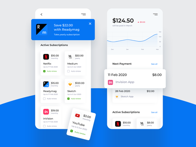 Daily UI 026 Subscribe finance cards subscribe tracking dashboard stats graphs expences payments subscription product design application app mobile design challenge ux ui dailyui026 dailyui