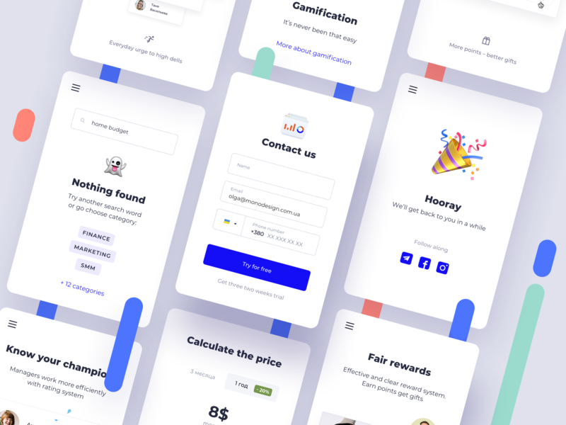 Daily UI 028 Contact Us social buttons categories plans emoji mobile success contact form inputs subscribe subscription email ui details ui elements phone design challenge ux ui dailyui028 dailyui