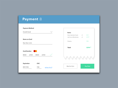 Daily Ui #002 minimal clean screen checkout pay card credit payment ui daily dailyui