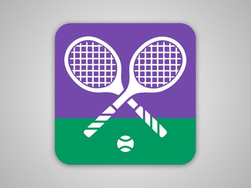 Daily Ui #005  green purple app icon tennis wimbledon dailyui