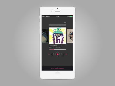 Daily Ui #009 totoro iphone player music ui dailyui