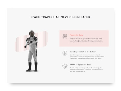 SPACED Homepage concept travel spacedchallenge spaced space ux ui