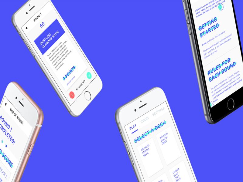 Allusion App game ui ux design app