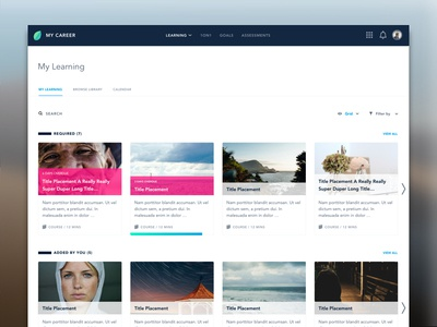 Learning Page Redesign