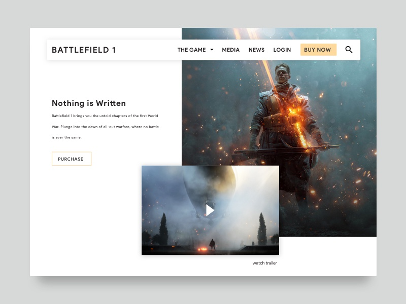 Battlefield One layout clean grid battlefield gaming games