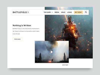Battlefield One layout clean grid battlefield gaming games