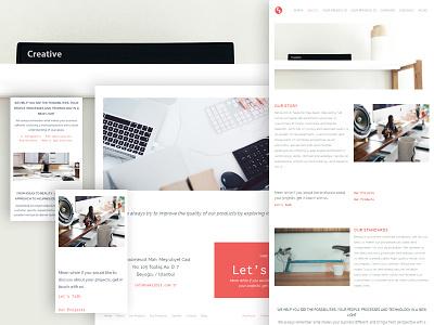 Web design study for Sekizbit web design web