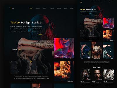 Tattoo Design Studio tattoo interface ui web design web