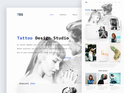 Tattoo Design Studio   Light Style tattoo interface ui web design web