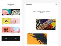 K!sbag Free Minimal Portfolio  Website