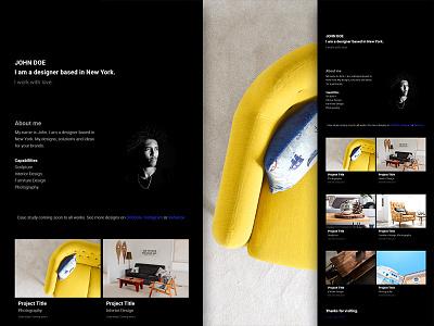Barts Free Simple And Minimal Portfolio Website Dark Style css html freebie free bootstrap development web design web