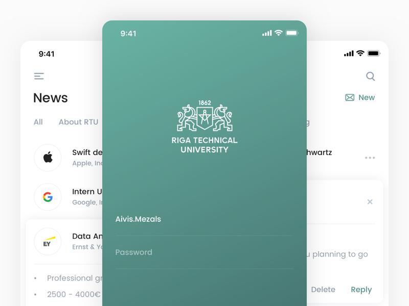 Riga Technical University iOS Application Redesign latvia riga technical university redesign ui ux new