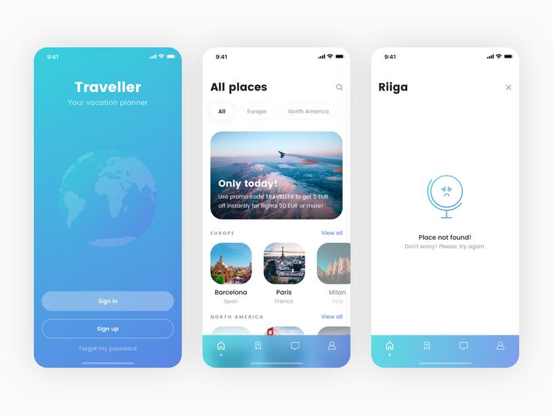 Traveller iOS Application Freebie - Coming soon! latvia riga travel freebie free download application design application