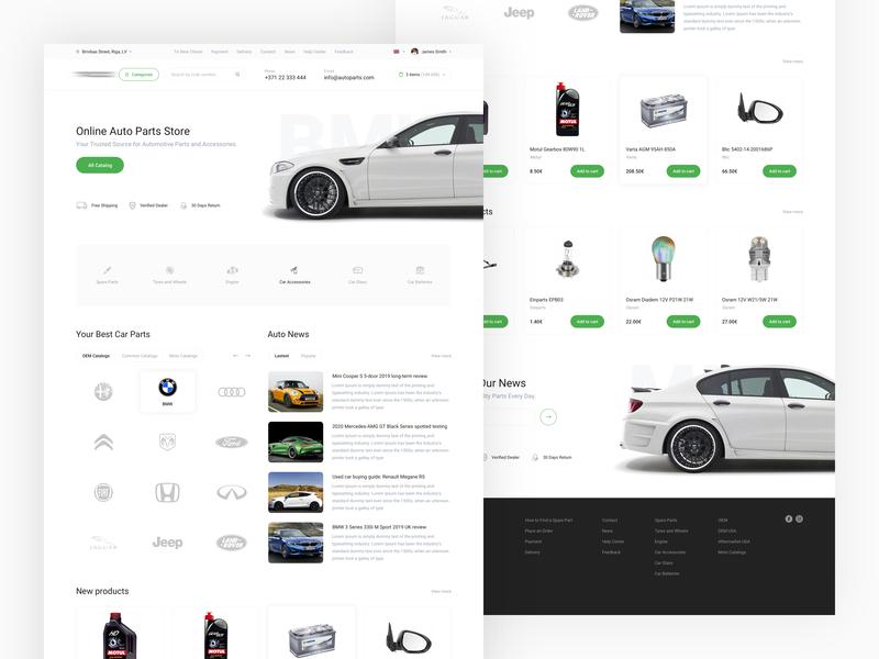 Auto Parts Online Store new ui ux design parts automobile auto