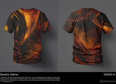 Dante's Inferno T-Shirt Design t-shirt graphic design digital art print photoshop abstract
