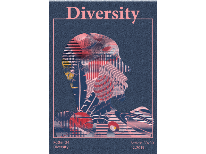 Diversity print design space universe digital art vector graphicdesign posters abstract colors adobe illustrator illustration