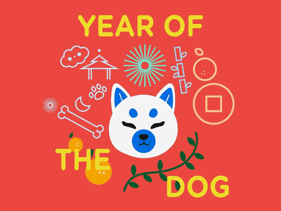 Year Of The Dog dog chinese new year vector illustration