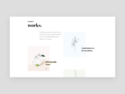 Work section layout website ux style web trendy minimal typography clean interface design ui