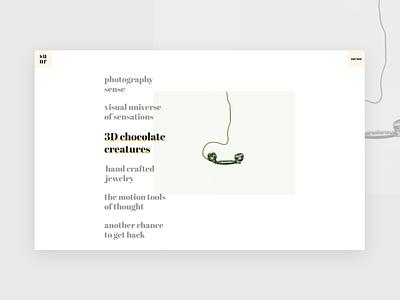 Interactive link minimalist design minimalism minimalistic minimalist simple clean interface ux clean interface design website web trendy minimal typography