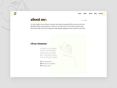 About me minimalistic minimalism minimalist ui interface clean web website ux style trendy typography minimal