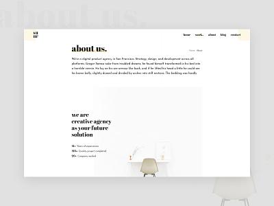About us layoutdesign layout typogaphy typo minimalistic minimalism minimalist website style trendy web minimal typography clean interface design ui