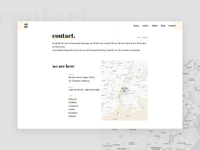 Contact typo minimalistic minimalism minimalist website web minimal typography clean interface design ui