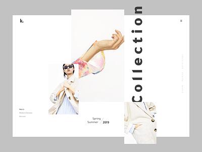 Fashion minimal website clean design clean ui clean minimalistic minimalism minimalist minimal web typography interface design ui