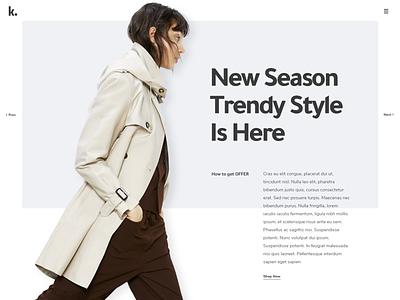 Product Showcase layoutdesign layout typo minimalistic minimalism minimalist style trendy minimal web typography clean product showcase ui