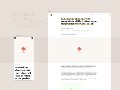 Blog Page blogdesign blog ux website style trendy minimal web typography clean interface design ui