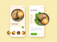 Order a Sourdough! adobe xd adobexd adobe cook cart shopping shop ecommerce order graphic restaurant food and drink food app food ux clean interface design ui