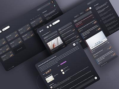 Trello Redesign saas management download design app freebie free uplabs dark challenge redesign trello